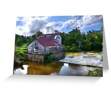 """""""Old Green Mill,  At Falls Of The Rough, Kentucky"""" Greeting Card"""