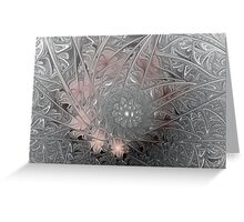 Jack Frost's Ice Painting (All proceeds donated to Cancer Research) Greeting Card