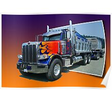 Out of Picture Peterbilt Dump Truck Poster