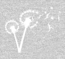 Dandylion Flight - white silhouette Kids Clothes