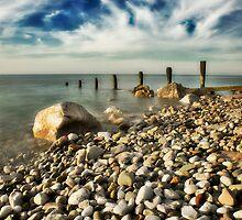 Breakwater, Colwyn Bay. by maxblack