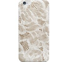 Sexy White Lace Lingerie iPhone Case/Skin