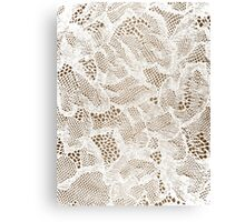 Sexy White Lace Lingerie Canvas Print