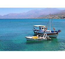 In the harbour at Hirsonissos Photographic Print