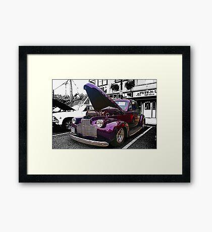 Purple Street Rod Framed Print