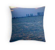 Sea of North Jakarta Throw Pillow