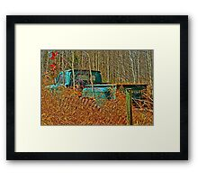 Old Pick up Truck in the Fall Grass Framed Print
