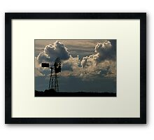 Windmill and Northern Storm Framed Print