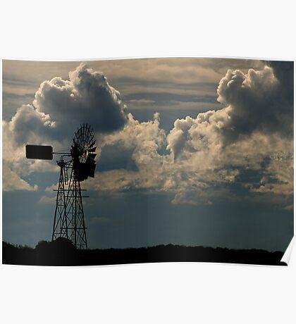 Windmill and Northern Storm Poster