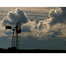 Windmill and Northern Storm Photographic Print