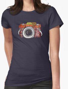 Patchwork Camera (dark tee) T-Shirt