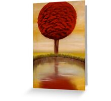Calm Morning - Abstract  Oil Painting - Anthony Mitchell  Greeting Card