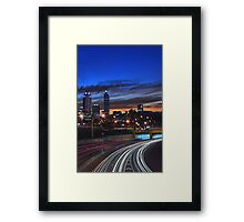 Perth City At Dusk  Framed Print