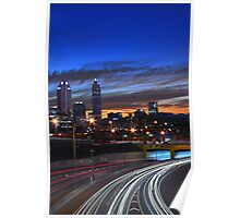Perth City At Dusk  Poster
