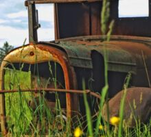 Old Rusted Ford in the Dandelions  Sticker