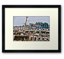 Old Rusted B.C. Ferry Framed Print
