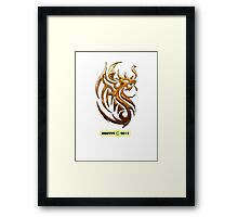 Golden Dragon tee-shirt and stickers Framed Print