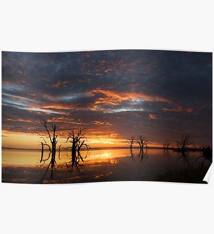Lake Bonney Sunset 4 Poster