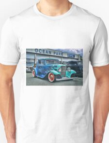 Flaming Blue Ford Unisex T-Shirt