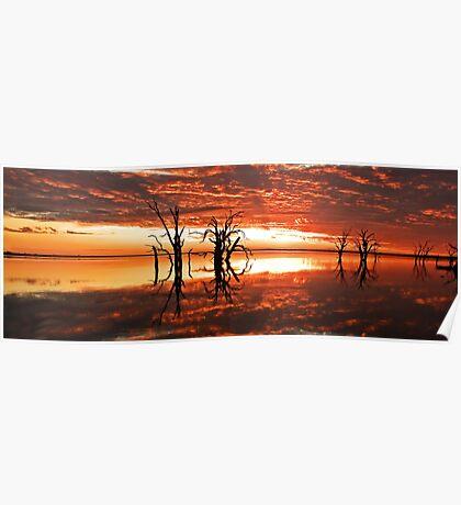 Lake Bonney Sunset 6 Poster
