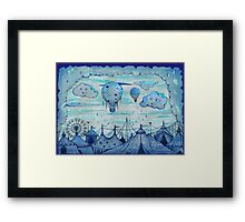 day at the circus  Framed Print