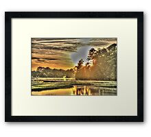 Sun Over Water Framed Print