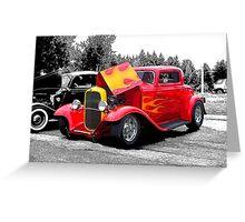 Flaming Hot Rod Greeting Card