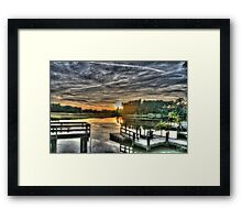 Fishing Dock Framed Print