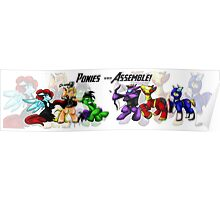 Ponies Assemble  Poster