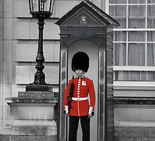 Red British Guard by Liam  Outram