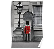 Red British Guard Poster