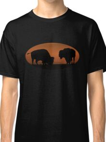 Bison Sunset Classic T-Shirt