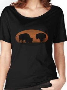 Bison Sunset Women's Relaxed Fit T-Shirt