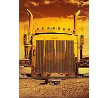 Sunset Peterbilt Photographic Print