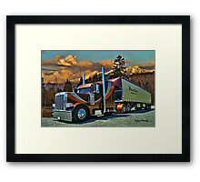 Downton's Transport Peterbilt Framed Print