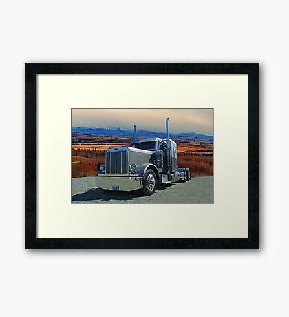 Peterbilt on the Prairies  Framed Print