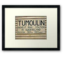 Riding Capella - Tumoulin Station Framed Print