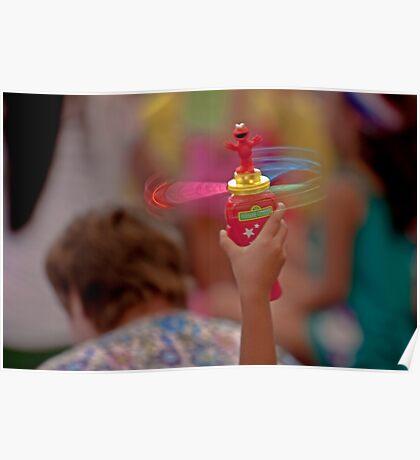 Spinning Elmo Poster