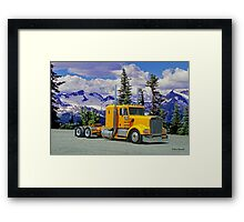 Old Yellow Kenworth in the Rockies Framed Print