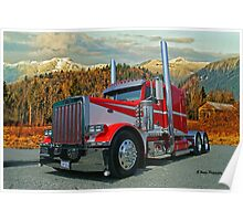 Peterbilt in the Fall Poster