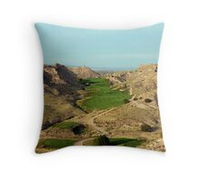 The Stairway to Seven Throw Pillow