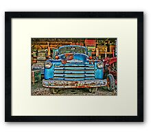 Old Chevrolet Farm Truck Framed Print