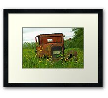 Old Washington Rusted Ford Framed Print
