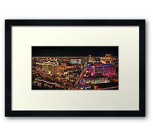 The Vegas Strip at Night Framed Print