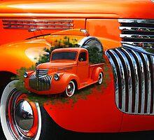 Orange Ford Pick-up Custom by rharrisphotos