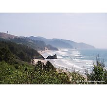 Scenic drive on Hwy. 101, Oregon Photographic Print