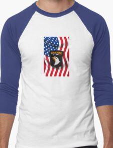 101st Airborne - American Flag Men's Baseball ¾ T-Shirt