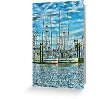 Prancer Fishing Boat Greeting Card