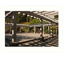 Arbor at Arboretum Art Print