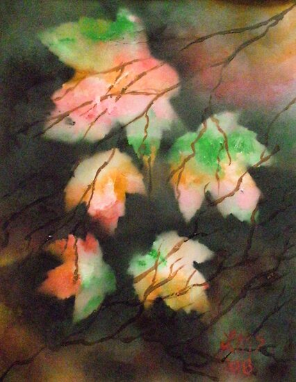 Marbled Maples by linmarie